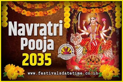 2035 Navratri Pooja Date and Time, 2035 Navratri Calendar