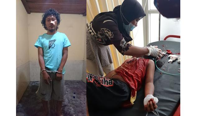 Kondisi korban saat dirawat dan foto pelaku