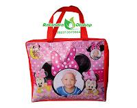 tas souvenir ultah minnie mouse, tas ulang tahun anak, tas ultah anak, tas souvenir ultah murah.