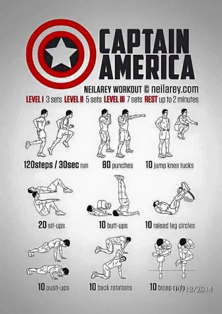 Melatih Otot Seperti Captain America