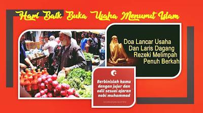 hari baik buka usaha menurut islam