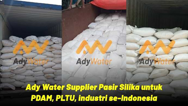 Pasir silika untuk filter air PDAM, PLTU, industri, BUMN
