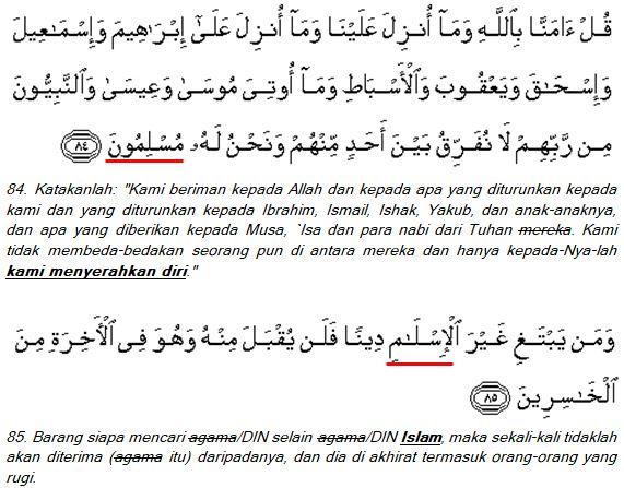 Ali-Imran (3); ayat 84-85