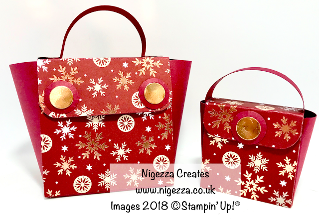 Resized Classic Gift Bag Using Joyous Noel DSP Nigezza Creates