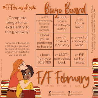 F/F February Reads bingo card