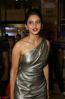 Rakul Preet Singh in Shining Glittering Golden Half Shoulder Gown at 64th Jio Filmfare Awards South ~  Exclusive 024.JPG