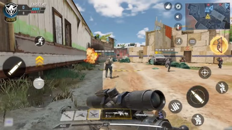 Game example in Call of Duty: Mobile.