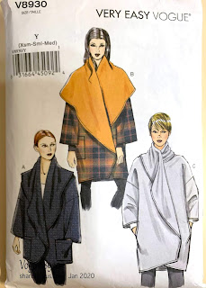 Pattern cover for Vogue 8930 wrap jacket