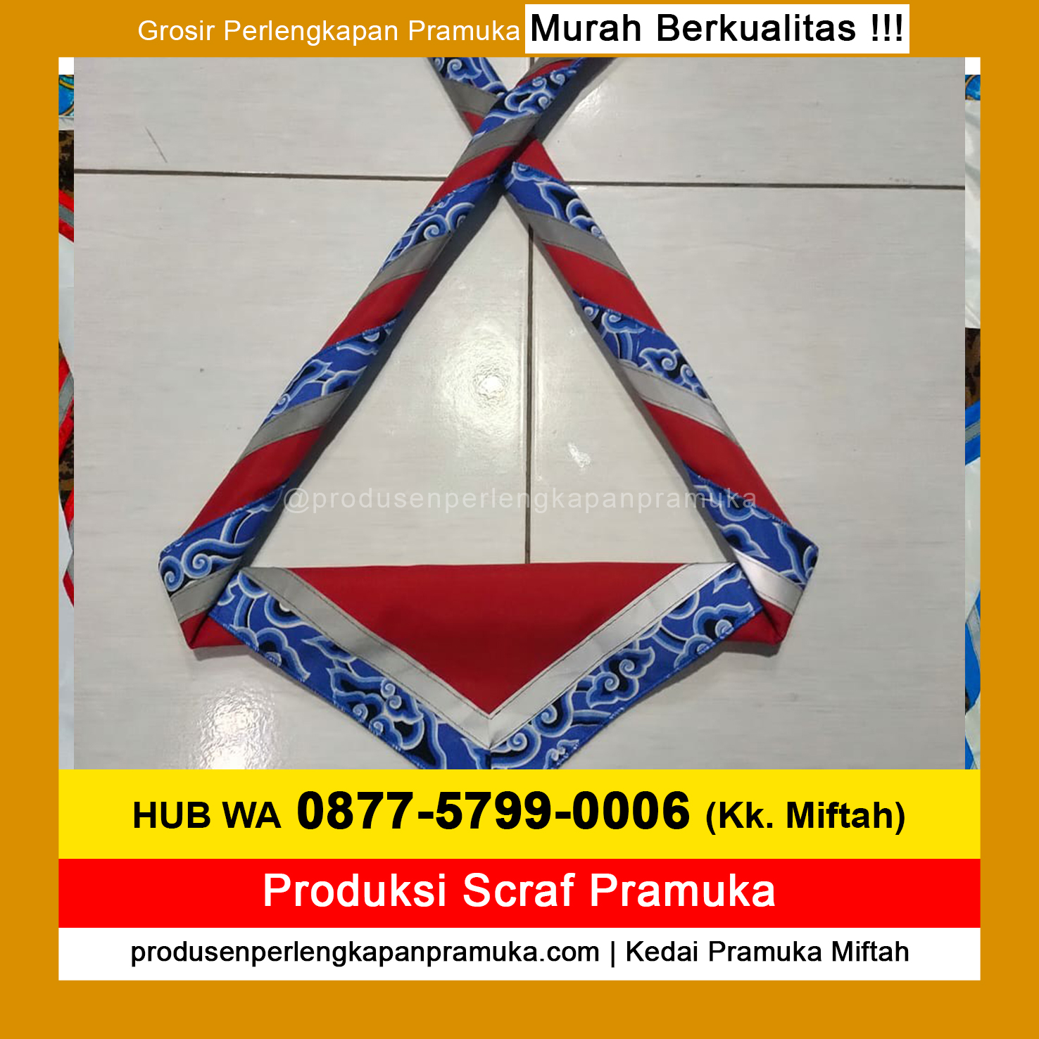 WA 0877-5799-0006 Produsen Jual Produksi Grosir Scraft Pramuka Glow In The Dark, Scarf Pramuka Murah