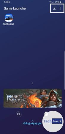 Pulpit aplikacji Game Launcher