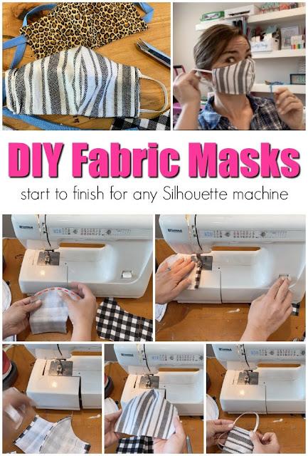 Fabric Masks, silhouette cameo, cameo 4, Coronavirus, cameo 3