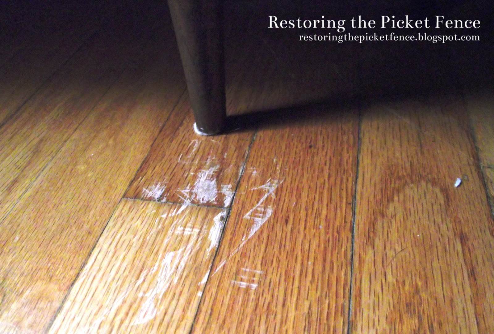 restoring the picket fence simple fixes removing scratches from a wood floor. Black Bedroom Furniture Sets. Home Design Ideas