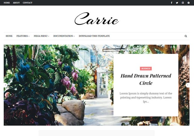 Carrie Blogger Template