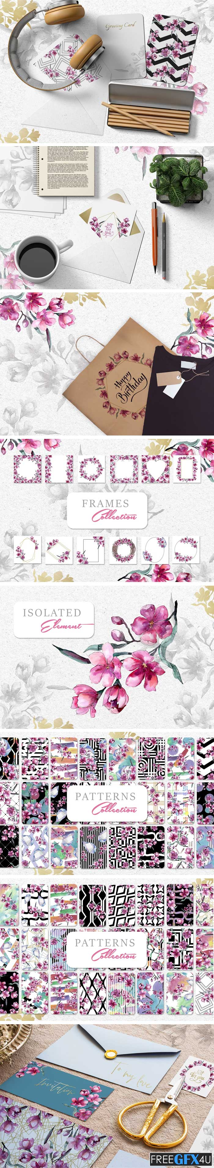 Bouquet Of Pink Flower PNG Pack
