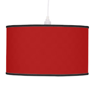 Red Christian home decor pendant lamp