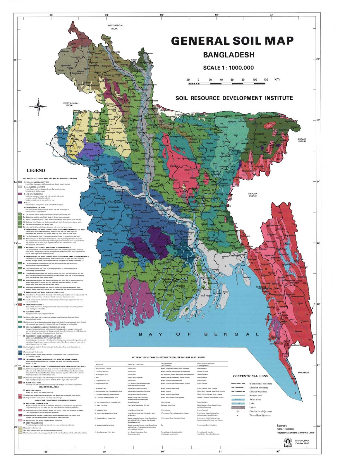 General Soil Map Bangladesh