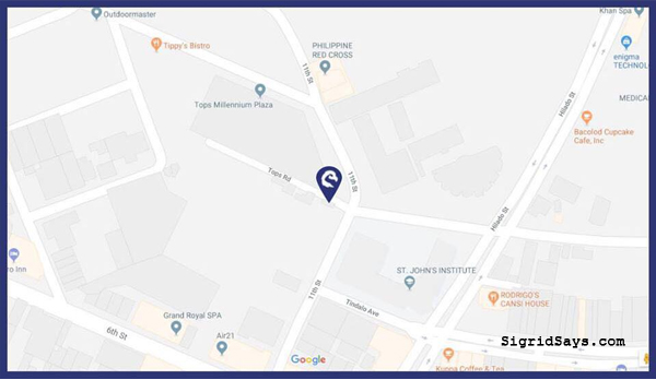 Phenom Elite Training Academy location map - Bacolod blogger
