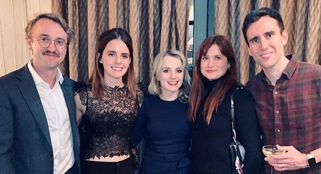 Intérpretes de Draco, Hermione, Luna, Gina e Neville se reúnem em fotos no Instagram | Ordem da Fênix Brasileira