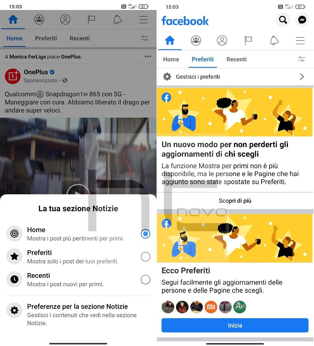 Facebook per Android consente la personalizzazione del News Feed