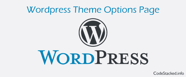Wordpress Theme Options Page without Settings API