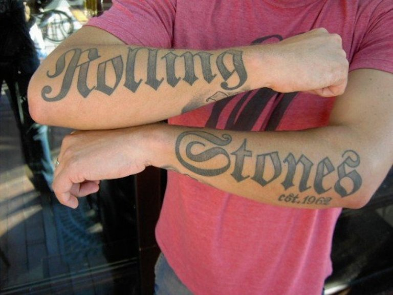 rolling stones tattoo tattoos norton triumph motorcycle stone colonial posted tatoo luton bobs beatles