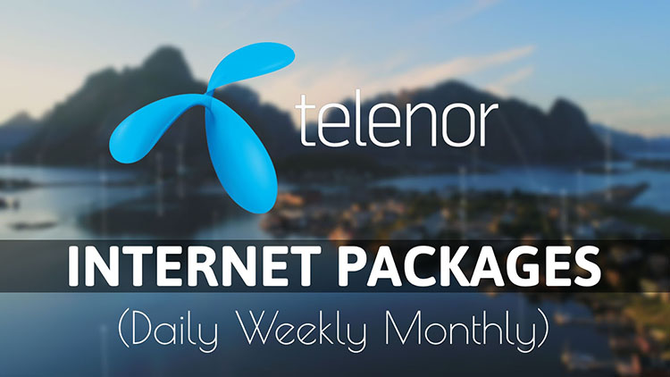 Telenor Daily Weekly Monthly Internet Packages 2020