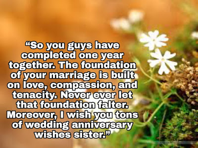 Happy Anniversary Wishes for Sister