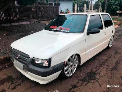 Fiat Uno Rebaixado Branco