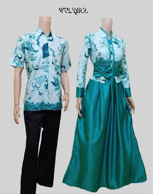 Model baju batik muslim couple