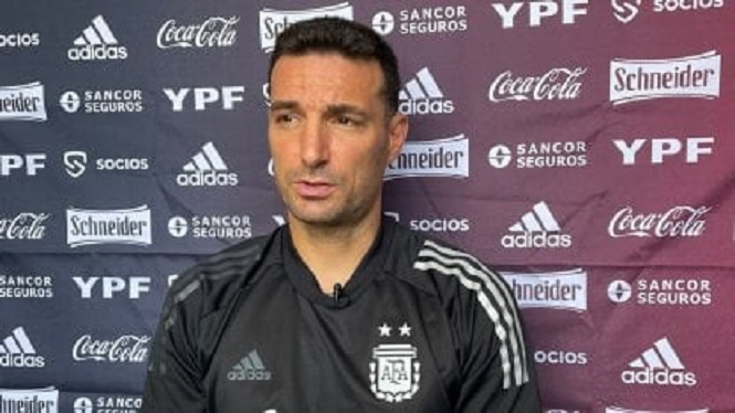 """Scaloni: """"Messi está en condiciones físicas y será titular"""""""