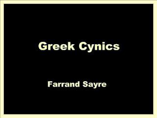 Greek Cynics by Farrand Sayre