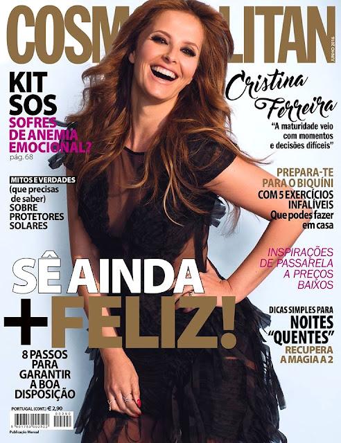 Portuguese TV Host , @ Cristina Ferreira - Cosmopolitan Portugal, Junho 2016
