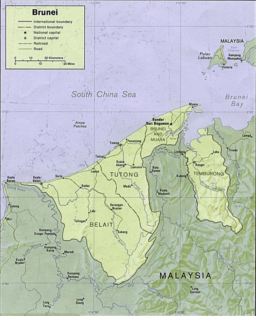 image: Brunei Political Map