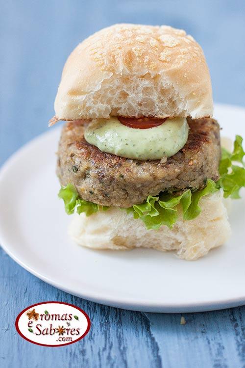 Hambúrguer vegano de lentilha