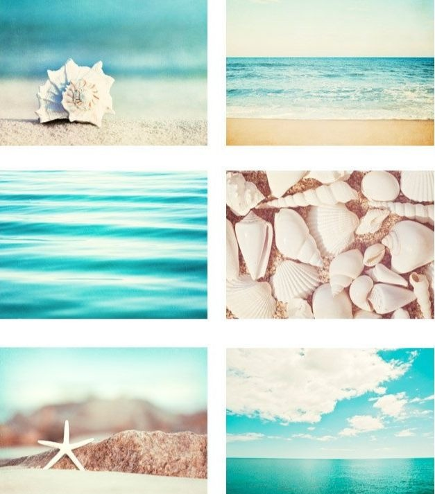 Peaceful beach photo art prints for home decor