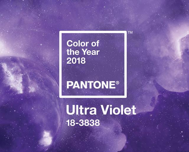 Cor do ano 2018 Pantone: Ultra Violet na decoração