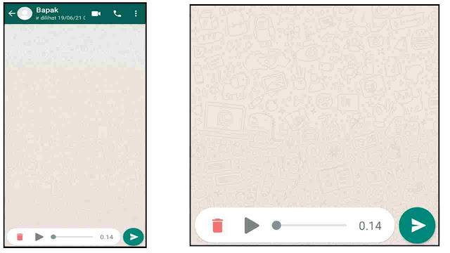 Cara mendengarkan pesan suara wa sebelum dikirim