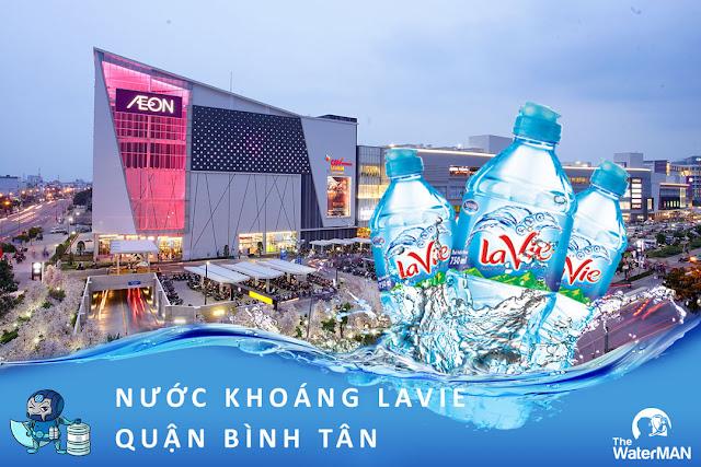 Đại lý đặt nước khoáng Lavie, Viva bình 20L, thùng đóng chai tại quận Bình Tân