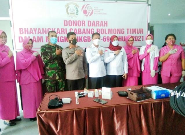 Sam Sachrul Mamonto Hadiri Kegiatan Donor Darah di Mapolres Bolaang Mongondow Timur.lelemuku.com.jpg