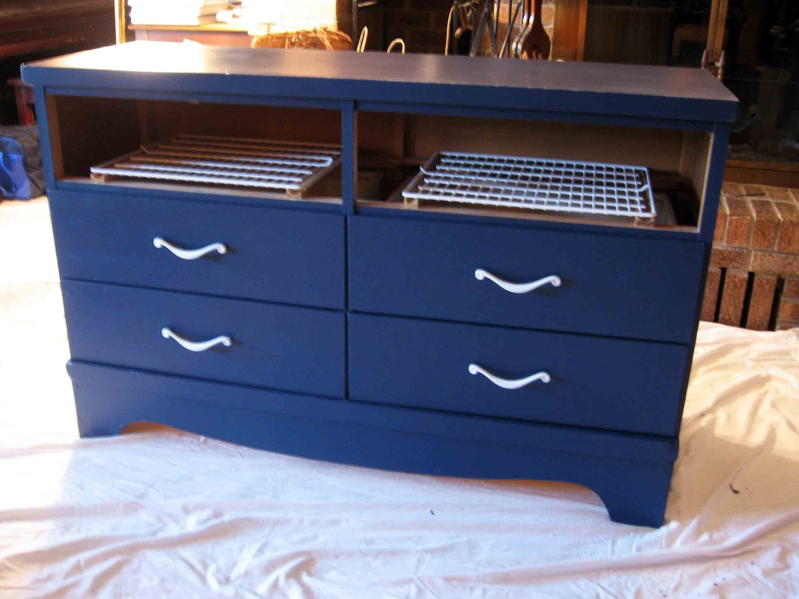 Thumpers Burrow DIY TV Stand Dresser Makeover