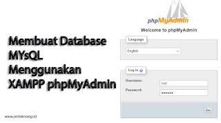 Membuat Database Mysql Menggunakan XAMPP PhpMyAdmin
