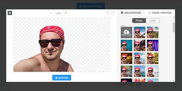 Program pentru modificat fundalul unei poze online