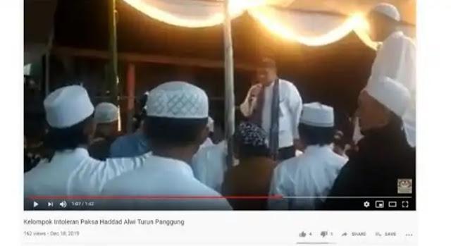 Haddad Alwi Dipersekusi saat Salawat di Sukabumi