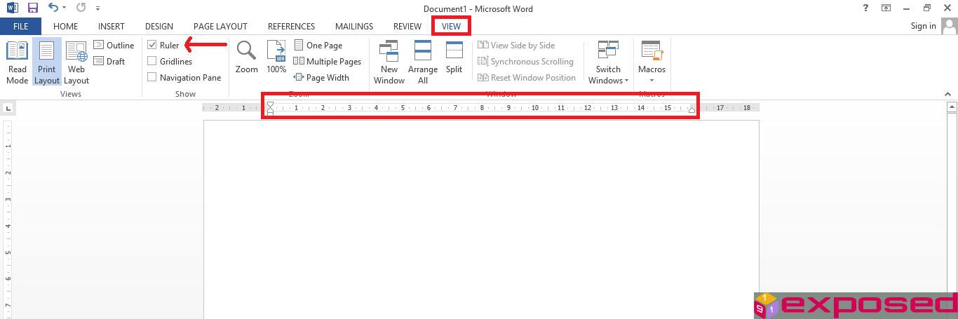 Cara Menampilkan Penggaris (Ruler) di Microsoft Word