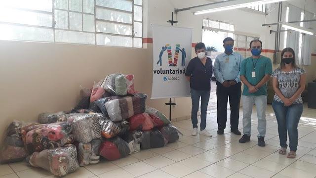 Fundo Social de Solidariedade recebe doação de cobertores da Sabesp