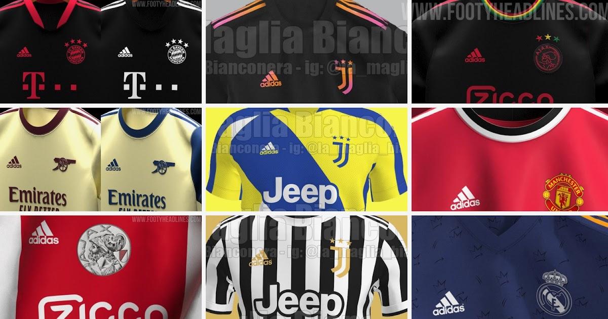 Mit diesem design sind alle. Adidas 21-22 Trikotvorhersagen + wie genau jedes Trikot