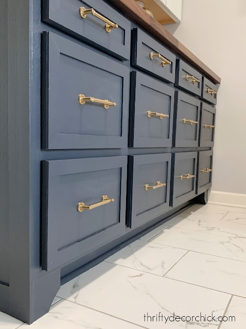 cyberspace cabinets with brass hardware