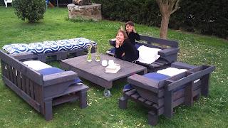 Muebles de jardín con palets | Bricolaje