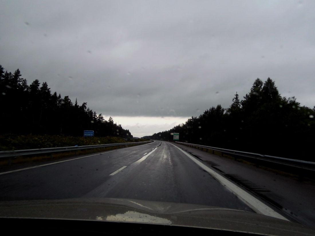 In macchina verso Jönköping