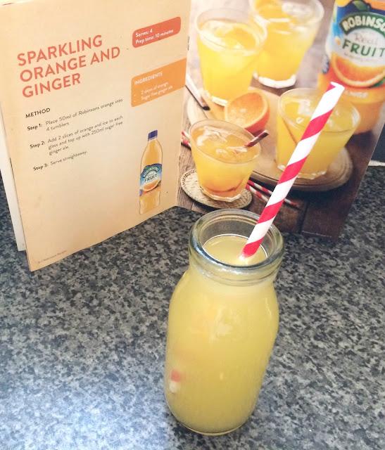 sparkling orange drink